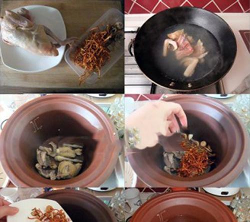 Món ăn bồ câu hầm đông trùng hạ thảo
