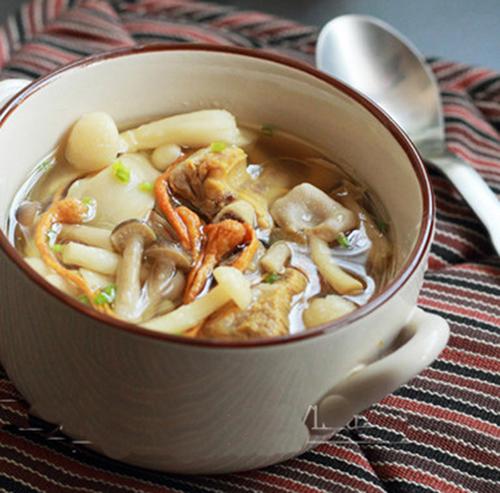 Món ăn  Đông trùng hạ thảo hầm nấm