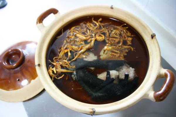 Đông trùng hạ thảo hầm chân gà ngon