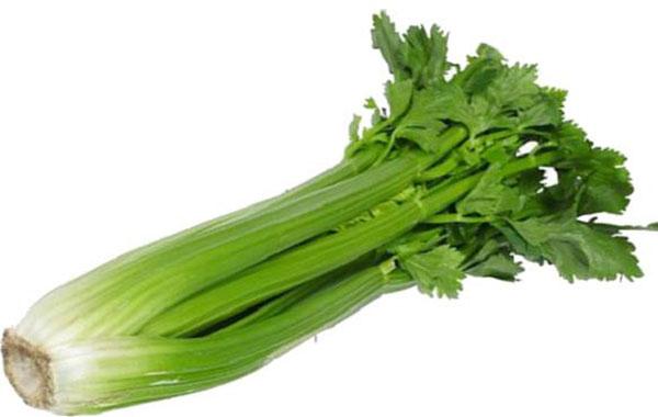 Nguyên liệu cần tây - Sườn heo hấp Đông trùng hạ thảo cần tây